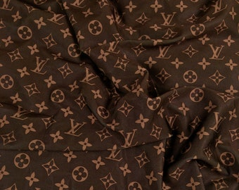dce896ae2501 Brown LV Inspired Fabric