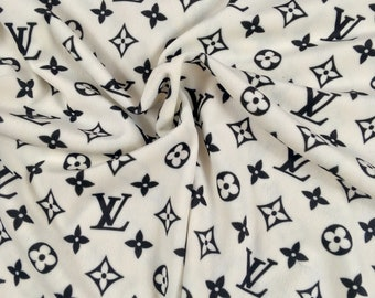 LV Designer Inspired Fabric By the Yard or Half Yard, Designer Inspired Fabric