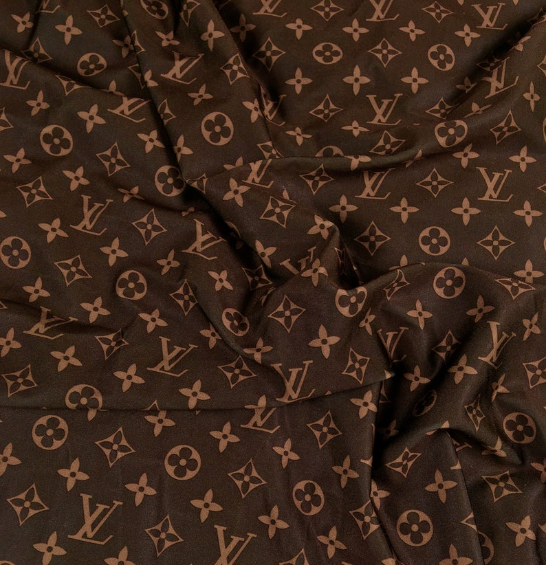 4793a354749 LV Brown Inspired Fabric By the Yard or Half Yard Designer