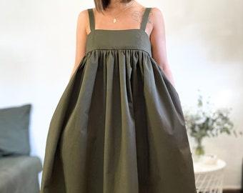 Oversize dress L'ÉTOILE khaki