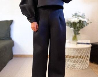 Black Neoprene Pants