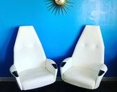 Mid Century Modern Adrian Pearsall for Craft Associates Pair of Lounge Chairs