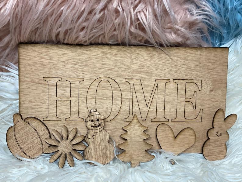 Home Seasonal Do-it-Yourself Sign.