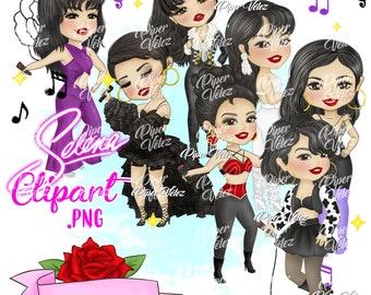 Selena Quintanilla Clipart Original Complete