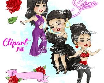 Selena Quintanilla Clipart Original Set 1