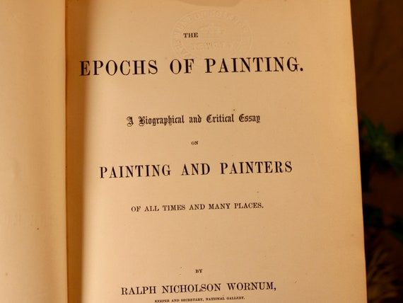 A Rainy Day Essay  Right To Die Essay also Safety Essay The Epochs Of Painting  Rare Antique Book  Critical Essay By Ralph  Nicholson Wornum   Leather Bound  Gold Gilded Marbled Pages Speech Writing Essay