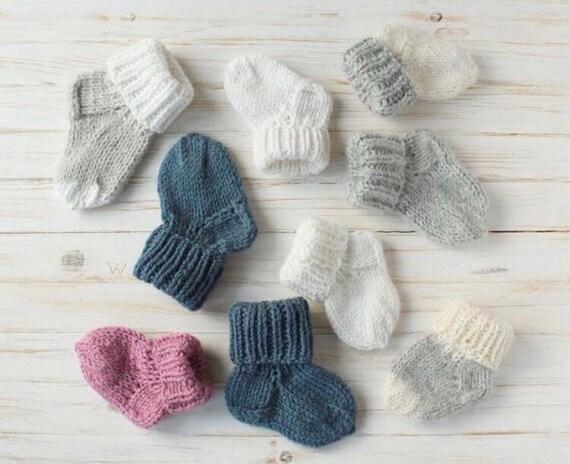 Handmade Crochet Baby boy girl Mittens early baby Newborn 18m