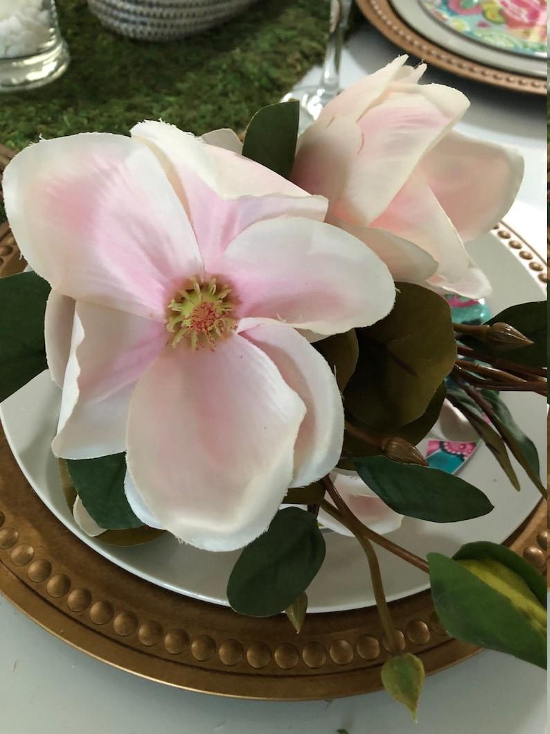 Light Pink Magnolia Bouquet perfect for bud vase centerpiece tiaras perfect for drop in centerpiece arrangement craft for headpiece