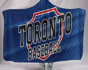 161498bd04d Toronto Blue Jays Fan Unofficial Hoodie Blanket Icon Toronto MLB  Baseball Gift Blanket Snuggie