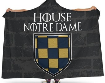 4acaff6e4 House Notre Dame Hoodie Blanket/Irish/Gift/For Her/For Him/Blanket/Blankets