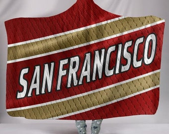 ee53cde9f2e San Francisco 49ers Fan Unofficial Hoodie Blanket Jersey Football Gift For  Her For Him Blanket Snuggie