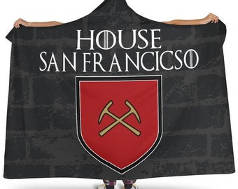 2bc9f516ead House San Francisco Football Unofficial Hoodie Blanket San Francisco 49ers Forty  Niners Snuggie Blankets
