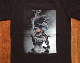 Totalitarianism T-shirt -  Black Military Propaganda T-shirt , Steampunk T-shirt, Gift for Him