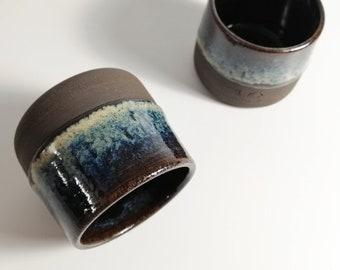 3 oz ml Handmade Ceramic Espresso Cup, Sake Cup, 80 ml Stoneware Tumbler, Birthday gift, House Warming Gift