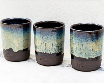 7oz Ceramic Tumbler, 200ml Stoneware Coffee Cup, Wine Cup, Beaker, Handmade Hand Thrown Vessel, Birthday gift, House Warming Gift