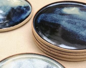 Handmade Stoneware Dessert Plate, 19 cm Dessert Platter, Cake Plate, Breakfast Plate, House warming Gift, Birthday Gift