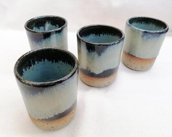 9.5oz Handmade Ceramic Tumbler, 270ml Stoneware Coffee Cup, Wine Cup, Beaker, Birthday gift, House Warming Gift