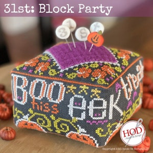 Block Party Hands on Design Preorder 25th Cross Stitch Pattern
