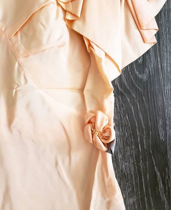 1930s Peach Floral Gown - image 3