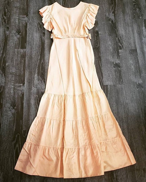 1930s Peach Floral Gown - image 7