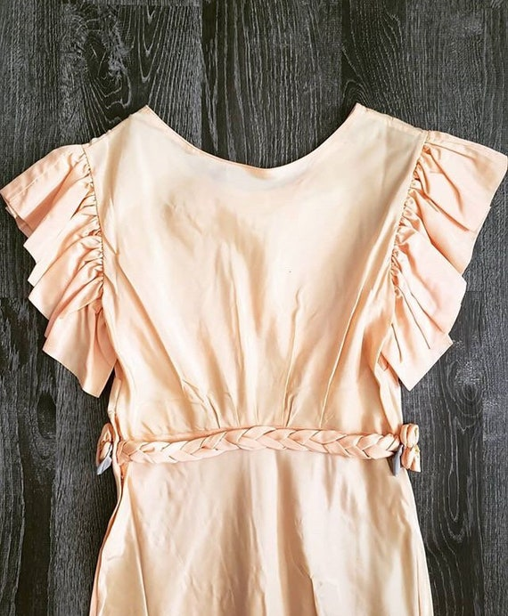 1930s Peach Floral Gown - image 5