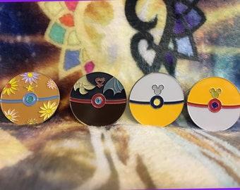 Pokeball Keyblade Enamel Pins
