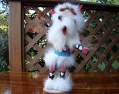 Native-made Kachina doll, Wolf, Hand-crafted by M. Nelson. It is 7.5 inches tall, made in the 90 39 s and in perfect condition.