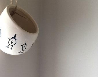 3e1f87445afcdf Hanging ceramic plant pot