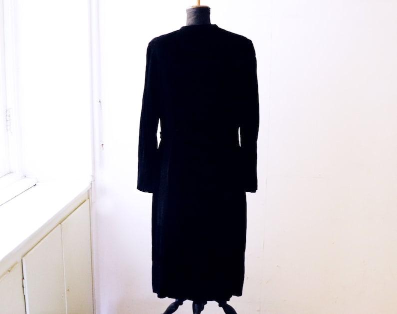 Antique 1910 Edwardian black velvet dress  Downton Abbey 1910 style original black velvet dress  Gothic and steampunk black velvet dress
