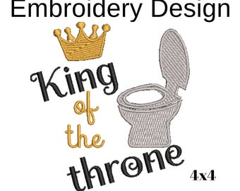 king of the throne embroidery, toilet paper cover, embroidery designs simple, bathroom embroidery designs, download, DST, JEF,VP3,PES