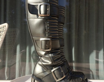 ab946dfe403 Professional Podium and club dancer space boots. 60 s-70 s costume boots  Size 37