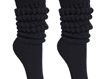 ec3a1df34ac MDR Women s Extra Long Heavy Slouch Cotton Socks Made in USA 1 Pair Size 9  to 11 …