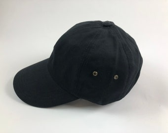 47069f8a01a Unisex Black Dad Cap Baseball Hat Plain Blank Low Profile Twill Cotton