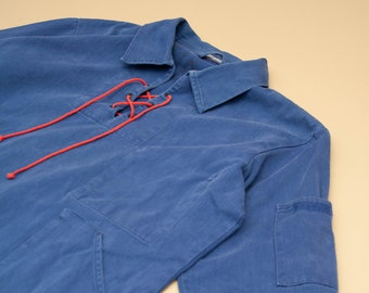 1980's French Workwear Pop Over Shirt