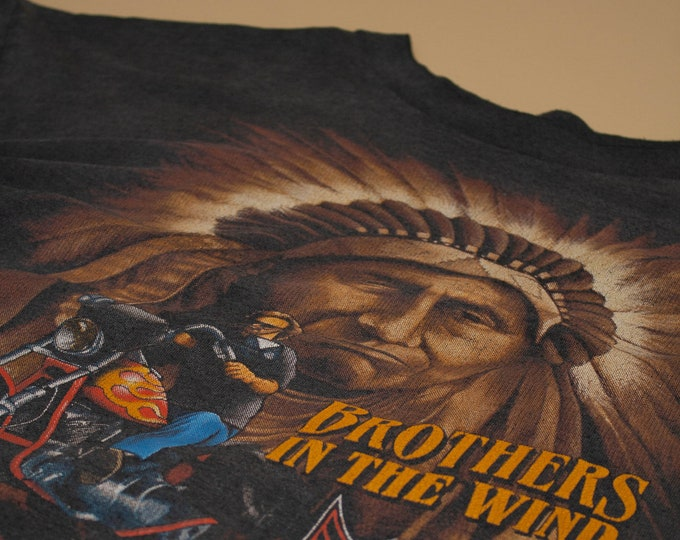 1992 American Biker Brothers in the Wind T-Shirt