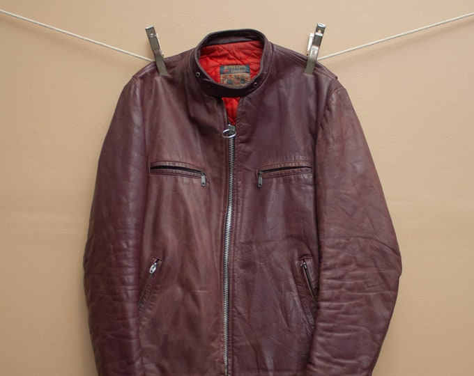 1960's Rare British Cycle Leathers Cafe Racer Motorcycle Jacket