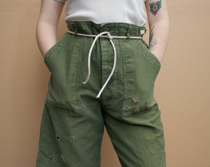 1960's Vietnam Era Type 1 OG 107 Sateen Cut Off Shorts