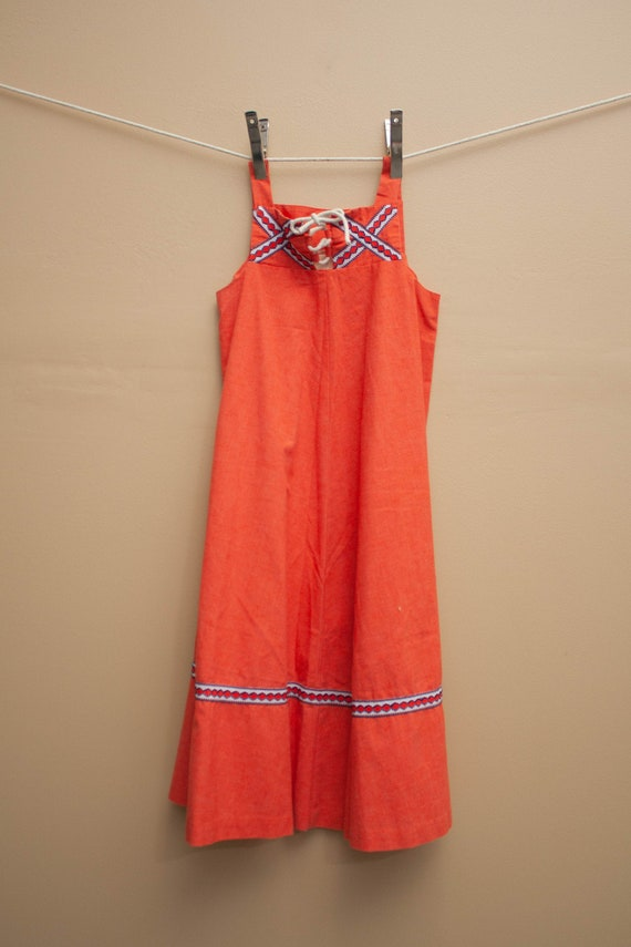 1970's Cotton Summer Midi Dress