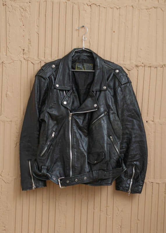 1980's Rich Leather Perfecto Moto Jacket
