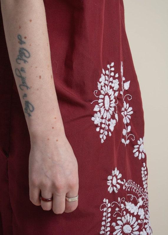 1970's Oaxaca Embroidered Midi Dress - image 7