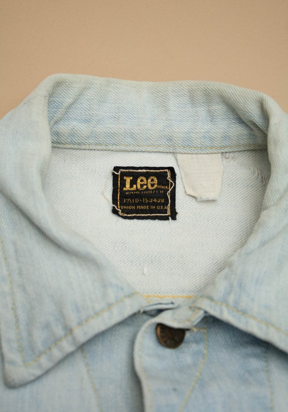 1970's Lightwash Lee Denim Jacket - image 5