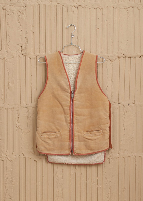 1970's Shearling and Faux Suede Vest