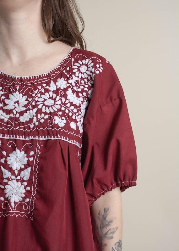 1970's Oaxaca Embroidered Midi Dress - image 6