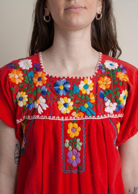1970's Oaxaca Embroidered Midi Dress - image 8
