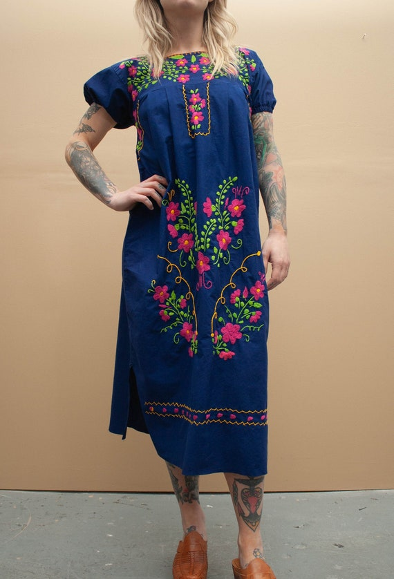 1970's Mexican Embroidered Dress
