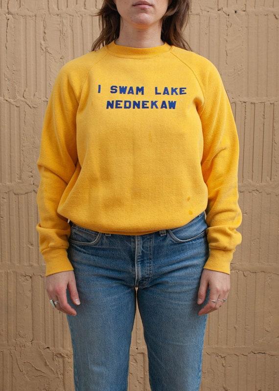 1970's Lake Nednekaw Flock Letter Sweatshirt