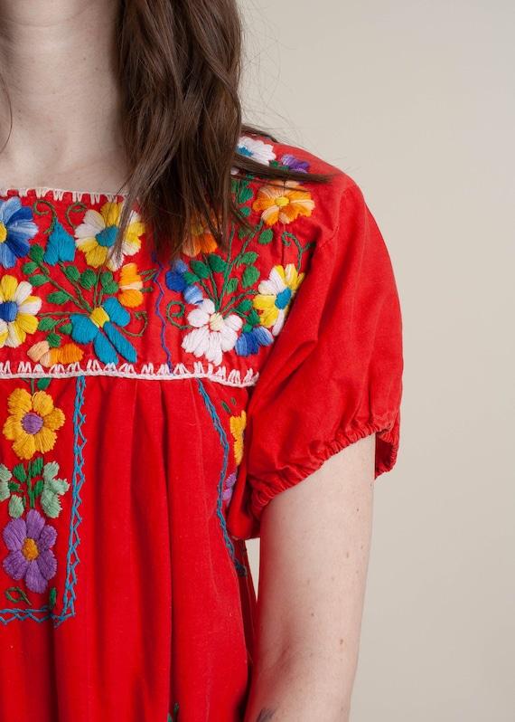1970's Oaxaca Embroidered Midi Dress - image 9