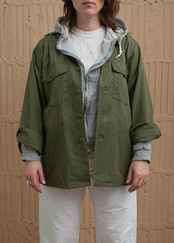 1980's Olive Drab Button Up