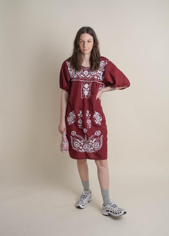 1970's Oaxaca Embroidered Midi Dress - image 1