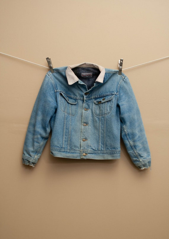 1970's Lee Storm Rider Blanket Lined Denim Jacket - image 1